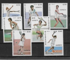 Thème Sports - Tennis - Nicaragua - Timbres Neufs ** Sans Charnière - TB - Tennis