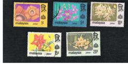 MALESIA: JOHORE (MALAYSIA) -   SG  188.193 - 1979  FLOWERS       - USED ° - Malesia (1964-...)