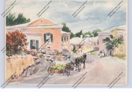 BERMUDA - HAMILTON, Street Scene, 1949, Einriss / WAF - Bermuda