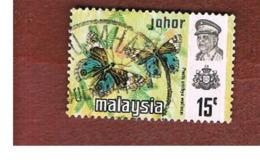 MALESIA: JOHORE (MALAYSIA) -   SG  180 - 1971  BUTTERFLIES: PRECIS ORITHYA      - USED ° - Malesia (1964-...)