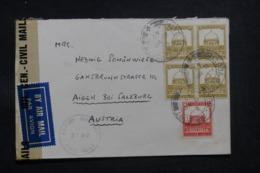 PALESTINE - Enveloppe De Jérusalem Pour L 'Autriche En 1947 Avec Contrôle Postal , Affranchissement Plaisant - L 43407 - Palestine