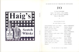 Programma Programme - Gala Des Amis Du Théatre - Jo & L'affaire Granudin - Gent 1966 - Programmes