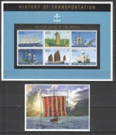 B827 GRENADA GRENADINES TRANSPORT SAILING SHIPS OF THE WORLD HISTORY 1KB+1BL MNH - Bateaux