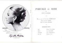 Programma Programme - Gala Des Amis Du Théatre - Partage De Midi -  Gent 1967 - Programmes