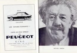 Programma Programme - Gala Des Amis Du Théatre - Du Vent... Sassafras - Michel Simon -  Gent 1967 - Programmes