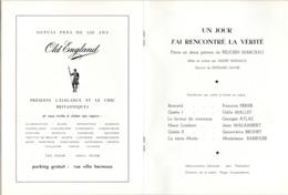Programma Programme - Gala Des Amis Du Théatre - Un Jour ...- François Perrier -  Gent 1969 - Programmes