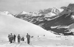 ADELBODEN → Viele Tourenskifahrer Im Aufstieg Nach Hahnenmoos, Ca.1950 - BE Bern