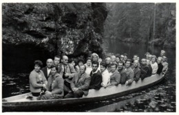 "Photo Originale Excursion En Barque "" Oberen Schleusen-Klamm "" - Helmut Wagner Hinterhermsdorf 01855 Sebnitz, Allemagne - Bateaux"