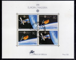 MADERA MADEIRA 1991 EUROPA CEPT BLOCK SHEET BLOCCO FOGLIETTO FIRST DAY SPECIAL CANCEL FDC - Madeira