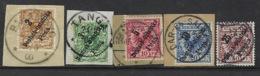 Allemagne, Lot De 5 Timbres Sur Fragments - Allemagne Occupation - étranger - - Kolonie: Duits Oost-Afrika