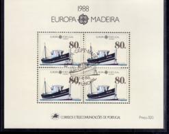 MADERA MADEIRA 1988 EUROPA CEPT BLOCK SHEET BLOCCO FOGLIETTO FIRST DAY SPECIAL CANCEL FDC - Madeira