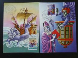 Carte Maximum Card (x2) Légendes Europa 1981 Essen Islande Iceland (ref 84634) - Europa-CEPT