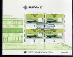 MADERA MADEIRA 1987 EUROPA CEPT BLOCK SHEET BLOCCO FOGLIETTO FIRST DAY SPECIAL CANCEL FDC - Madeira