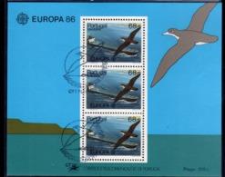 MADERA MADEIRA 1986 EUROPA CEPT BLOCK SHEET BLOCCO FOGLIETTO FIRST DAY SPECIAL CANCEL FDC - Madeira