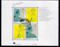 MADERA MADEIRA 1993 EUROPA CEPT MODERN ART BLOCK SHEET BLOCCO FOGLIETTO FIRST DAY SPECIAL CANCEL FDC - Madeira