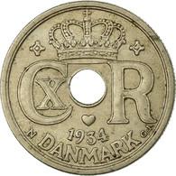 Monnaie, Danemark, Christian X, 25 Öre, 1934, Copenhagen, TTB, Copper-nickel - Dänemark