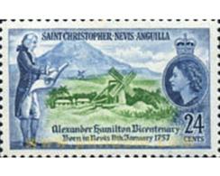Ref. 359360 * MNH * - ST.CHRISTOPHER-NEVIS-ANGUILLA. 1957. BICENTENARIO DE ALEJANDRO HAMILTON - Windmills