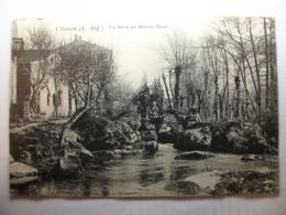 Carte Postale Clisson (44) La Sevre Au Moulin Neuf (Petit Format Noir Et Blanc Non Circulée ) - Clisson