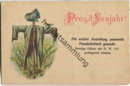 Prosit Neujahr - Vogelscheuche - Anstellung - Gel. 1894 - Año Nuevo