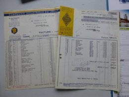 Compagnie Industrielle Du JOUET, Lot 2 Factures Dont Voitures Panhard, Renault, Camions..., Ref 710 ; PAP07 - Frankreich