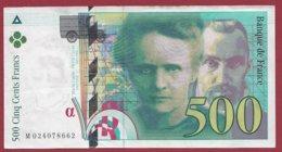 """500 Francs """"Pierre Et Marie Curie """" 1994 --VF/SUP  ----ALPH.M.-- Numéro --024078662 - 1992-2000 Ultima Gama"""