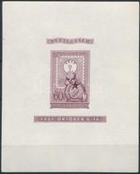 ** 1951 Vágott Lila Blokk (375.000) ( Bal Oldalon Pici Folt (vagy Cellulózdarab?) / Small Spot On The Left)) - Sellos
