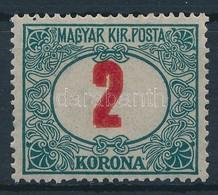 ** 1915 Pirosszámú Zöldportó 2K Az értékszám Kettős Nyomatával. A Filatéliai Irodalomban Ismeretlen Tévnyomat, Rendkívül - Sellos
