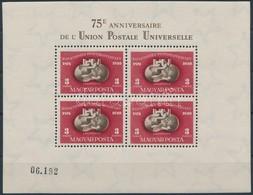 ** 1950 UPU Blokk, Luxus Minőség (140.000) - Sellos
