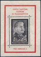 ** 1953 Sztálin Kézisajtós Blokk (130.000) - Sellos