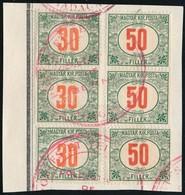 1915 Pirosszámú Zöldportó Minta Céljából Kiküldött Hármascsíkok A Madagaszkári Posta Archívumából - Sellos