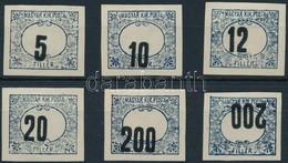 1903 Zöldportó 3 Db Fogazatlan Szinpróbanyomat Gumi Nélküli Papíron - Sellos