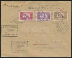 1925 (16. Díjszabás) Légi Levél Zürichbe / Airmail Cover To Zürich Via Vienna. Magas Pontérték!! - Sellos
