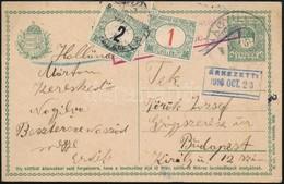 1917 Képeslap Zöldportó és Pirosszámú Zöldportó Vegyes Portózással - Sellos