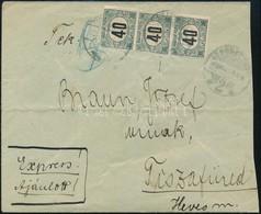 Debrecen 1920 Bérmentesítés Nélkül Feladott Levél Debrecenből Tiszafüredre, Ott 3 X 40f Magyar Posta Portóval Megportózv - Sellos