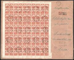 1929 Pengő-fillér 3f Teljes ív Távolsági Ajánlott Levélen 'BUDAPESTI NEMZETKÖZI VÁSÁR' Alkalmi Bélyegzéssel. Jó Minőségb - Sellos