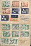 1951 Ajánlott Légi Levél Belgiumba 33 Db Bélyeggel Bérmentesítve, összesen 52,8Ft-tal! Igen érdekes Küldemény! - Sellos