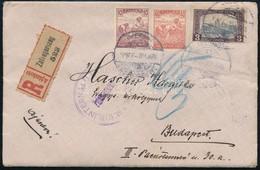 1920 Ajánlott Levél érdekes Tartalommal, Cenzúrázva,  A Zalaegerszegi Internáló Táborból Budapestre - Sellos