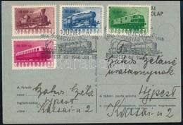 1946 Vasútjubileum Sor Levelező Lapon Első Napi Alkalmi Bélyegzéssel. Ritka Darab! - Sellos