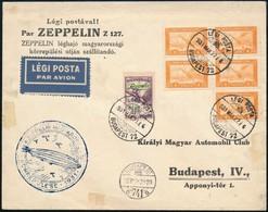 1931 Zeppelin Magyarországi Körrepülés Levél Zeppelin 2P Bélyeggel - Sellos