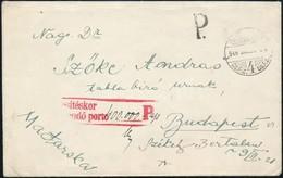 1946 Zágrábból érkezett, Bélyeg Nélkül Feladott Levél ,  'Kézbesítéskor Beszedendő 400.000 Ap' Bélyegzéssel Portózva. Re - Sellos