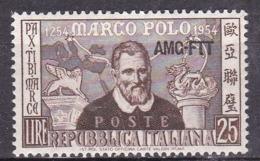 Repubblica Italiana, 1954 - AMG-FTT 25c Marco Polo - Nr.204 MNH** - Ungebraucht