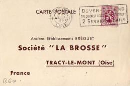 B60 Belgique Lettre De E. R. Zimmerman Du 05-10-1931 Avec Flamme, Cachet Poste. Postée à Liege En Belgique - Flammes