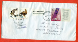 Lituania 2000. Registered Envelope Is Really Past Mail. - Eagles & Birds Of Prey