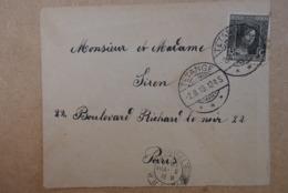Lettre Luxembourg Av Timbre De Tetange A Paris Rue Richard Lenoir 1919 - 1914-24 Marie-Adelaide