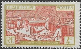 GUADELOUPE 1928 Sugar Refinery - 4c - Brown And Green MH - Unused Stamps