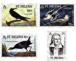 Ref. 32134 * MNH * - ST. HELENA. 1985. BICENTENARY OF THE BIRTH OF ORNITHOLOGIST J.J. AUDUBON . BICENTENARIO DEL NACIMIE - Isola Di Sant'Elena