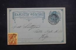 CHILI - Entier Postal + Complément De Santiago Pour Valparaiso En 1894 - L 43416 - Chile