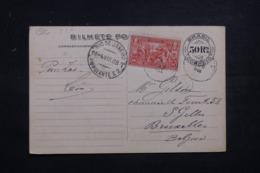 BRÉSIL - Entier Postal + Complément DeRio De Janeiro Pour Bruxelles En 1908 - L 43417 - Postwaardestukken