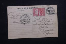 BRÉSIL - Entier Postal + Complément De Rio De Janeiro Pour Bruxelles En 1908 - L 43418 - Postwaardestukken