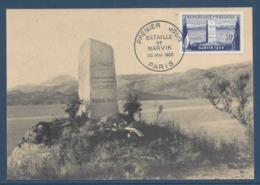 France - Carte Maximum - Bataille De Narvik - Paris - 1952 - Maximum Cards